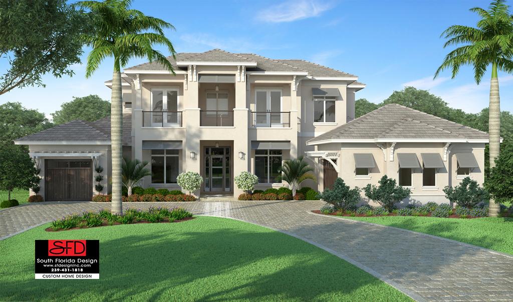 Riviera Coastal Contemporary House Plan South Florida