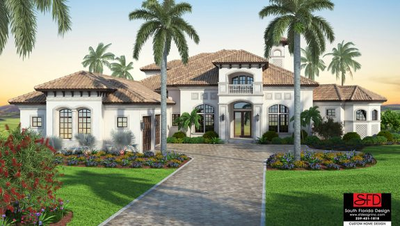 Mediterranean 6 Bedroom House Plan