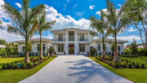 2-story coastal house plan created by South Florida Design located in Estero, Florida