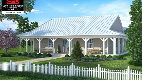 Olde Florida 1-Story House Plan