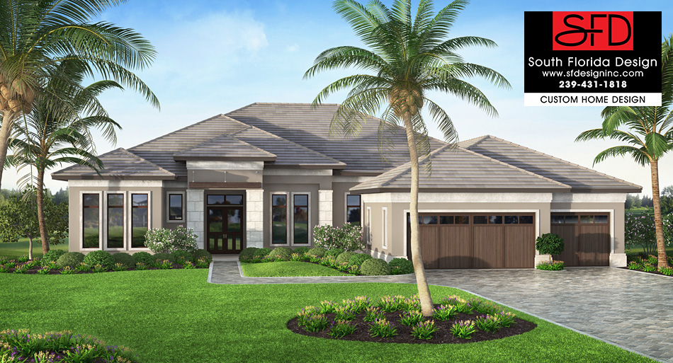 South Florida Designs Coastal Contemporary 1 Story Home Design .