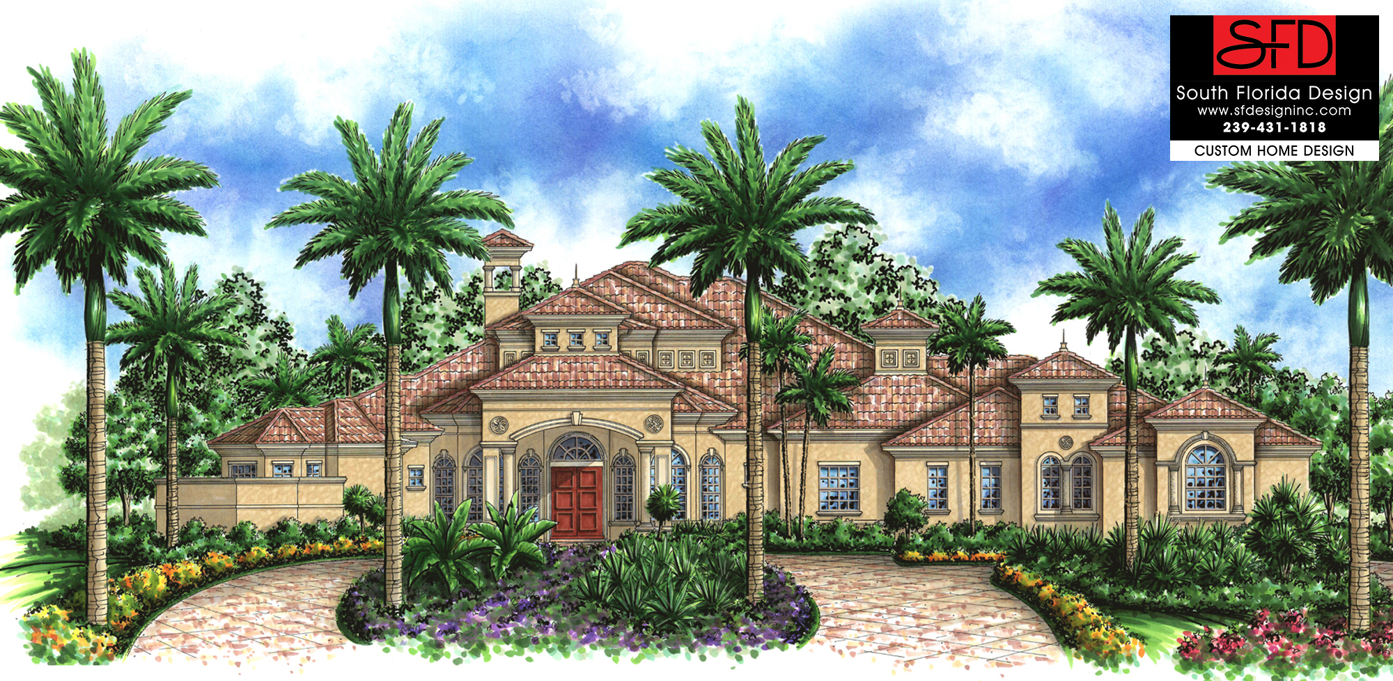 South Florida Designs Mediterranean Luxury House Plan South