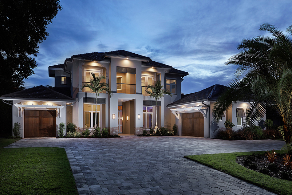 South florida designs coastal contemporary great room for Modern estate home plans
