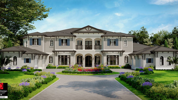 11653sf Luxury house plan has amenities galore designed by South Florida Design located in Naples, Florida