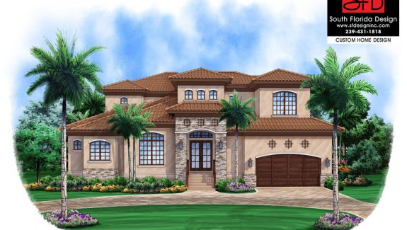 Tuscany Inspired 2-Story Home Design