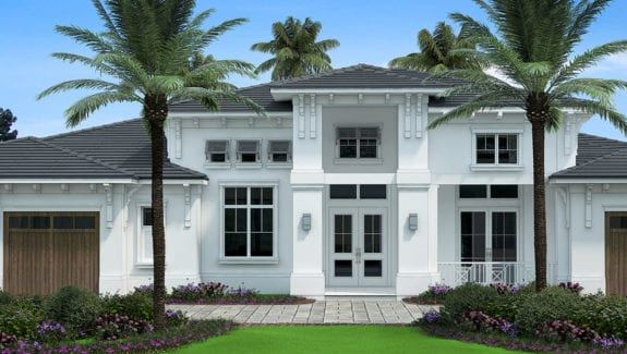 4200sf Coastal Contemporary House Plan designed by South Florida Design located in Estero, Florida